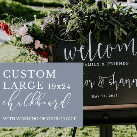 Custom Large Chalkboard Sign, Wording of Your Choice | Rich Design Co