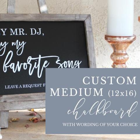 Custom Medium Chalkboard Sign | Rich Design Co