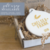 Finally Engaged White Ceramic Christmas Tree Ornament | Rich Design Co