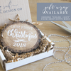 Personalized Mistletoe Wood Slice Christmas Tree Ornament | Rich Design Co