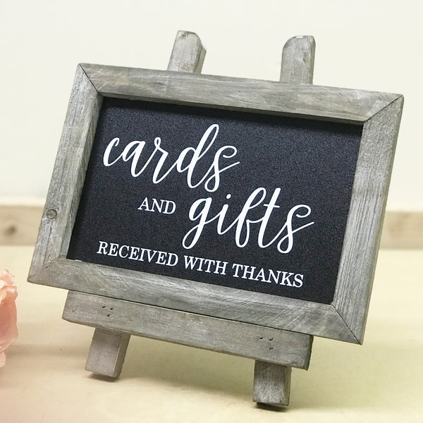 Cards and Gifts Chalkboard | Rich Design Co