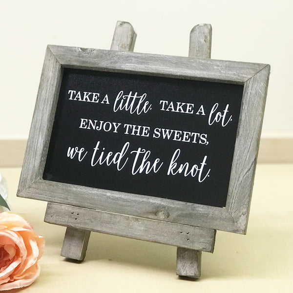 Dessert Table Chalkboard Sign | Rich Design Co