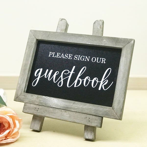 Please Sign Our Guestbook Chalkboard | Rich Design Co