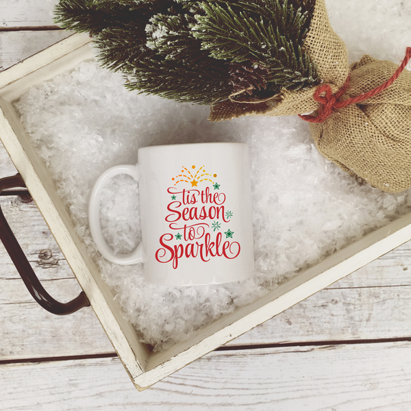 Tis the Season to Sparkle Coffee Mug | Rich Design Co