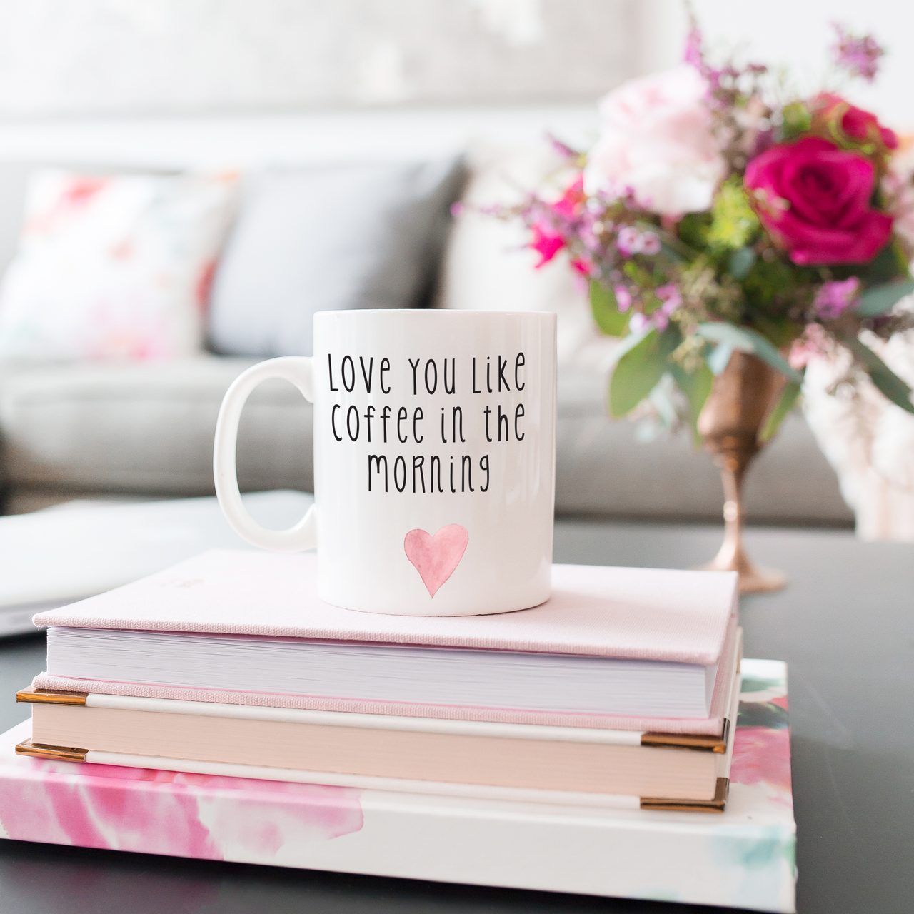 Love You Like Coffee In The Morning Valentine's Day Mug | Rich Design Co