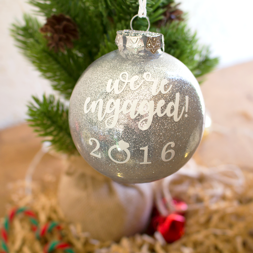 We're Engaged Christmas Ornament | Rich Design Co - We're Engaged Christmas Ornament €� Rich Design Co