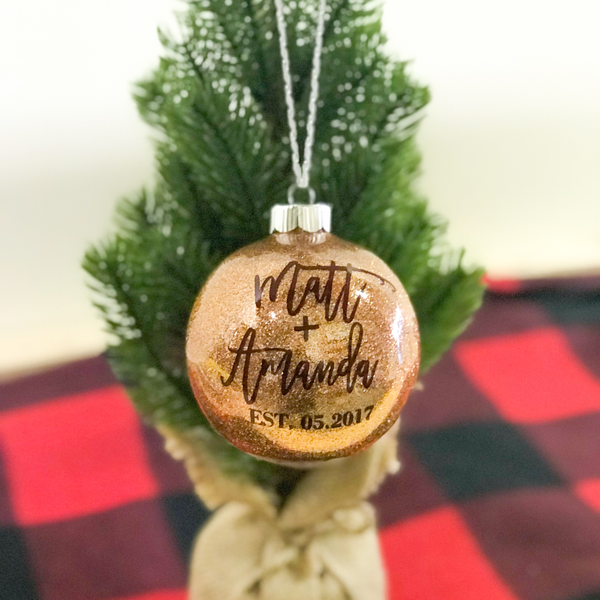 Personalized Christmas Ornament For Couples | Rich Design Co - Christmas Ornaments €� Rich Design Co