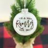 Mr & Mrs Personalized Christmas Ornament | Rich Design Co