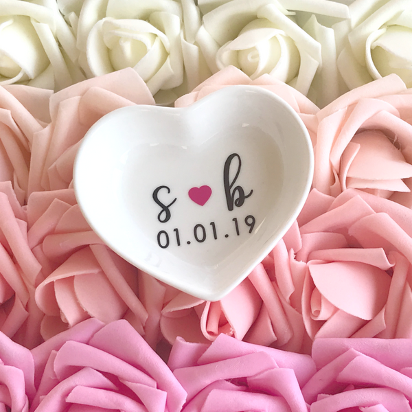 Heart Shaped Personalized Ring Dish | Rich Design Co