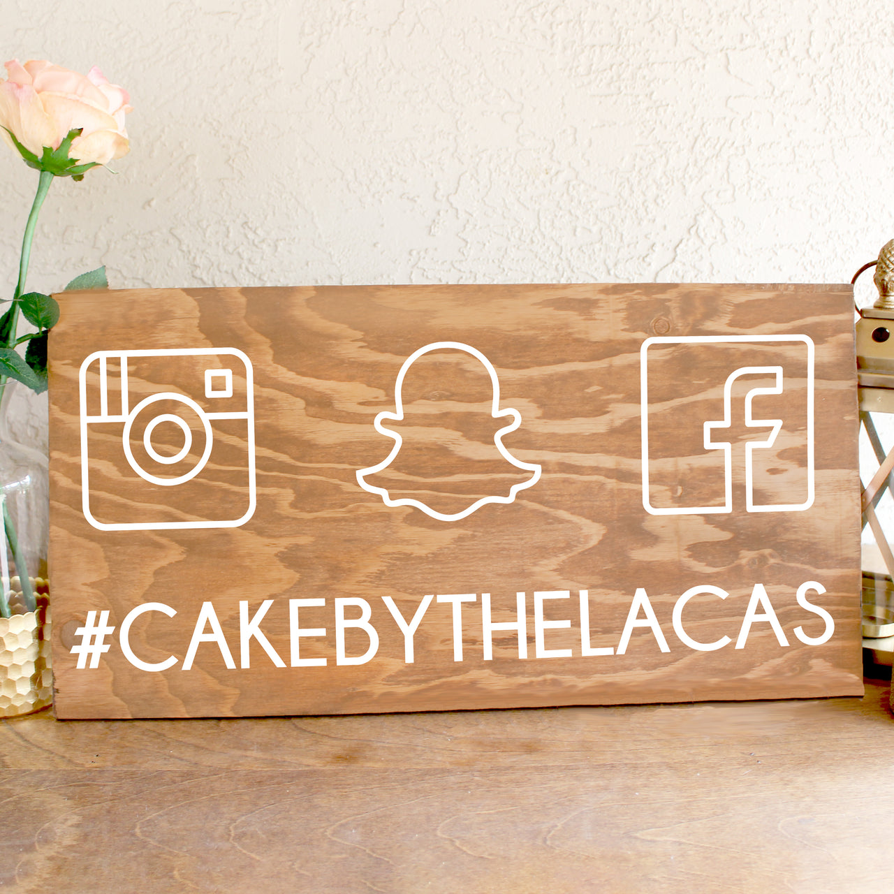 Wooden Wedding Hashtag Sign | Rich Design Co