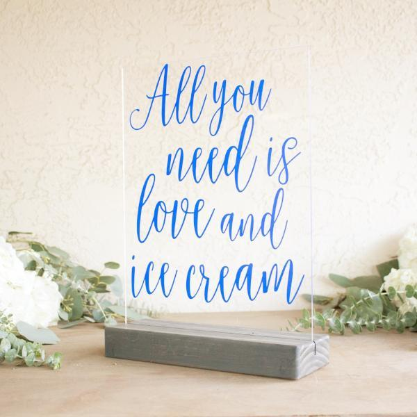 All You Need is Love & Ice Cream Acrylic Sign - Rich Design Co
