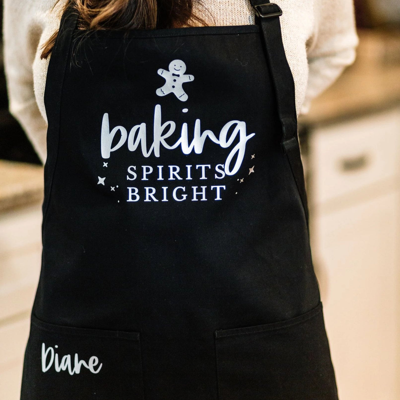 Baking Spirits Bright Personalized Christmas Baking Apron - Rich Design Co