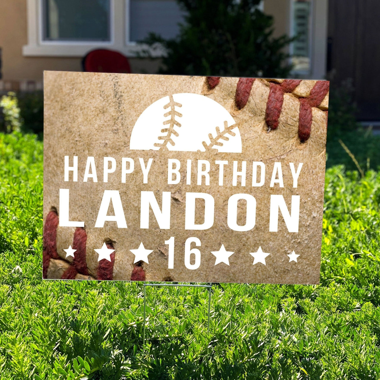 Baseball Personalized Birthday Yard Sign - Rich Design Co