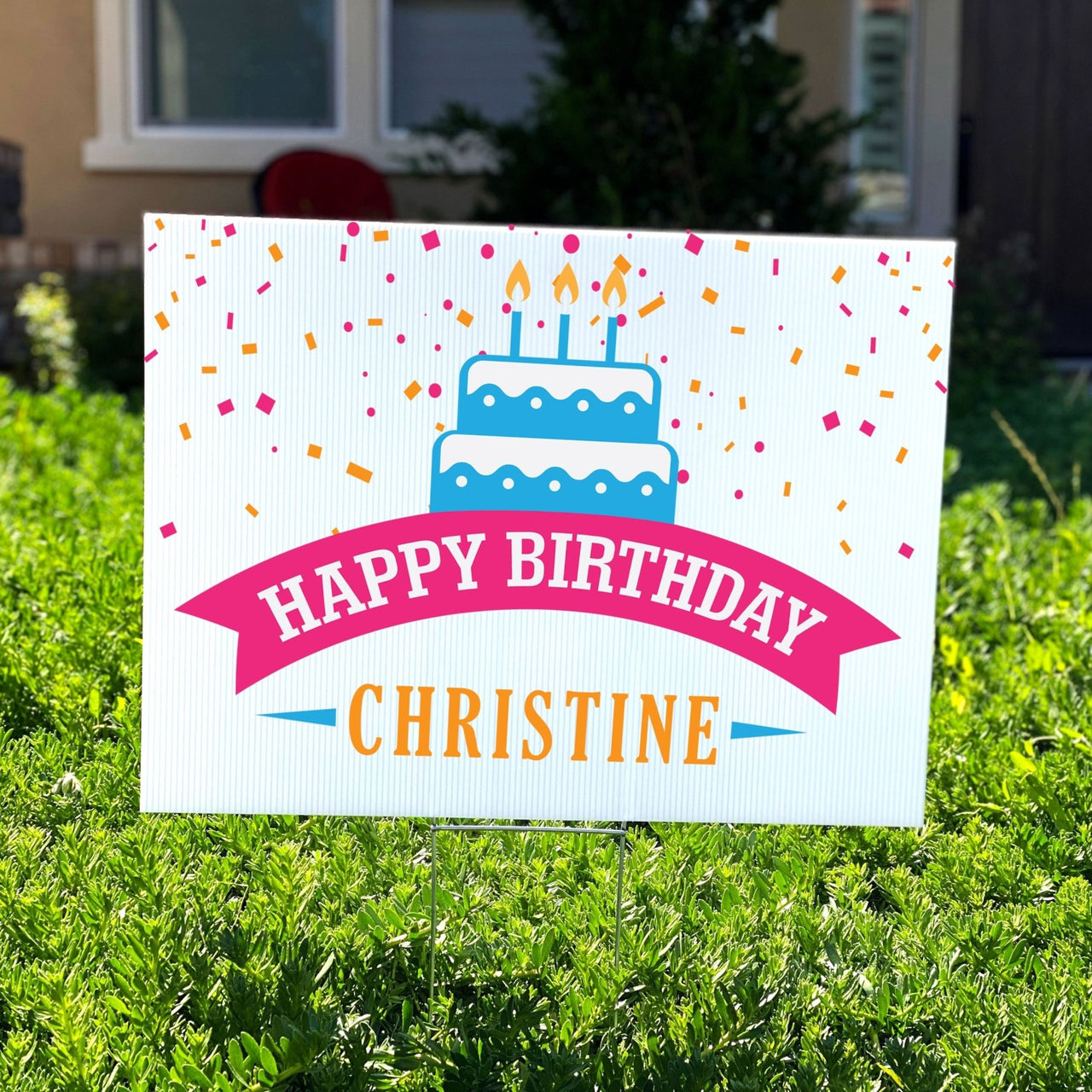 Birthday Cake Personalized Birthday Yard Sign - Rich Design Co