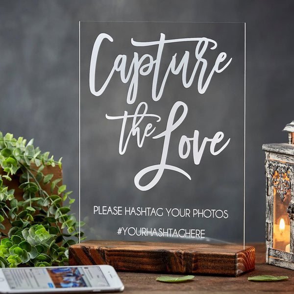 Capture the Love Acrylic Hashtag Sign - Rich Design Co