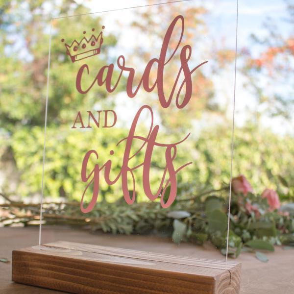Cards and Gifts Baby Shower Sign - Rich Design Co