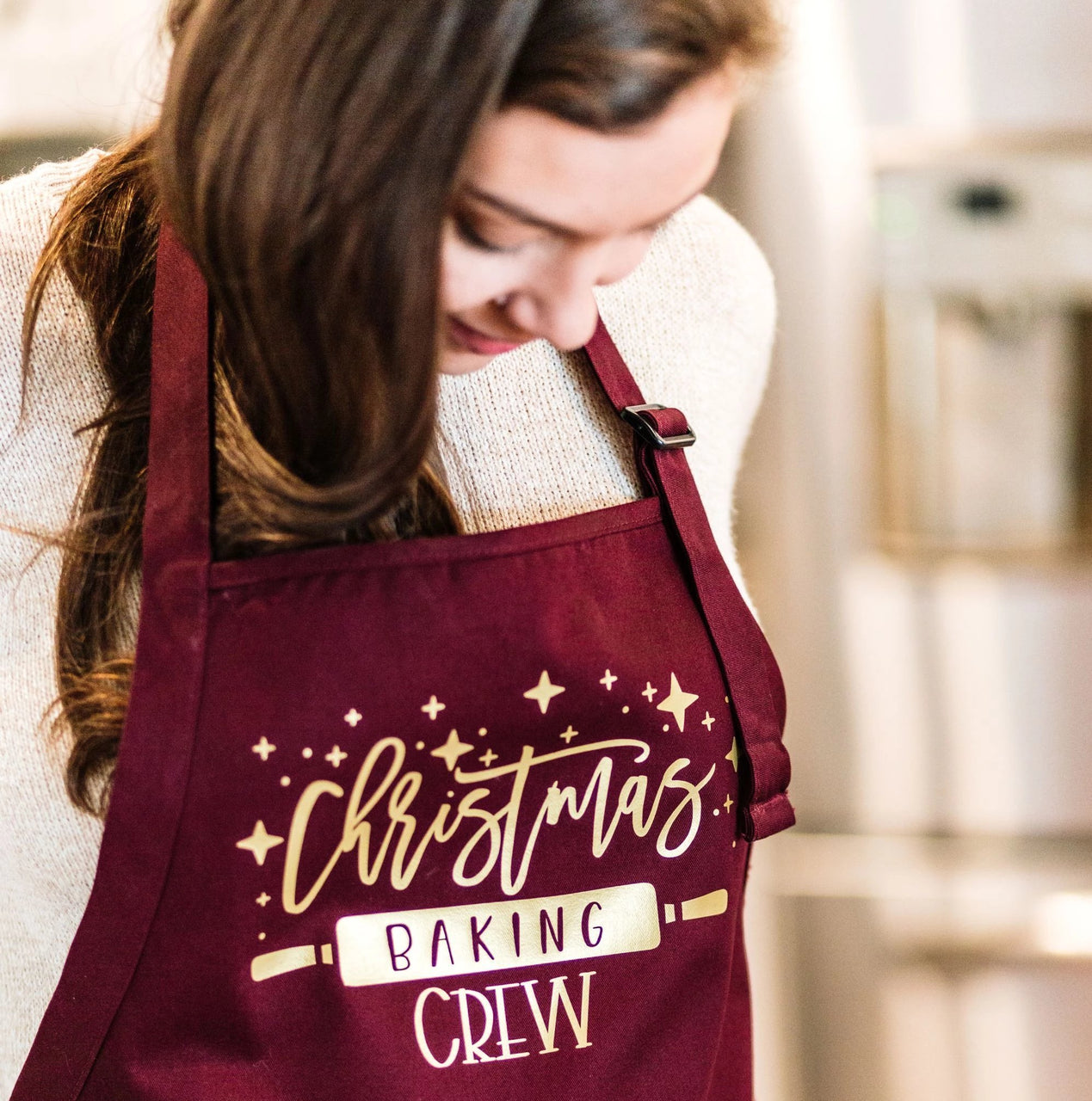 Christmas Baking Crew Personalized Apron - Rich Design Co