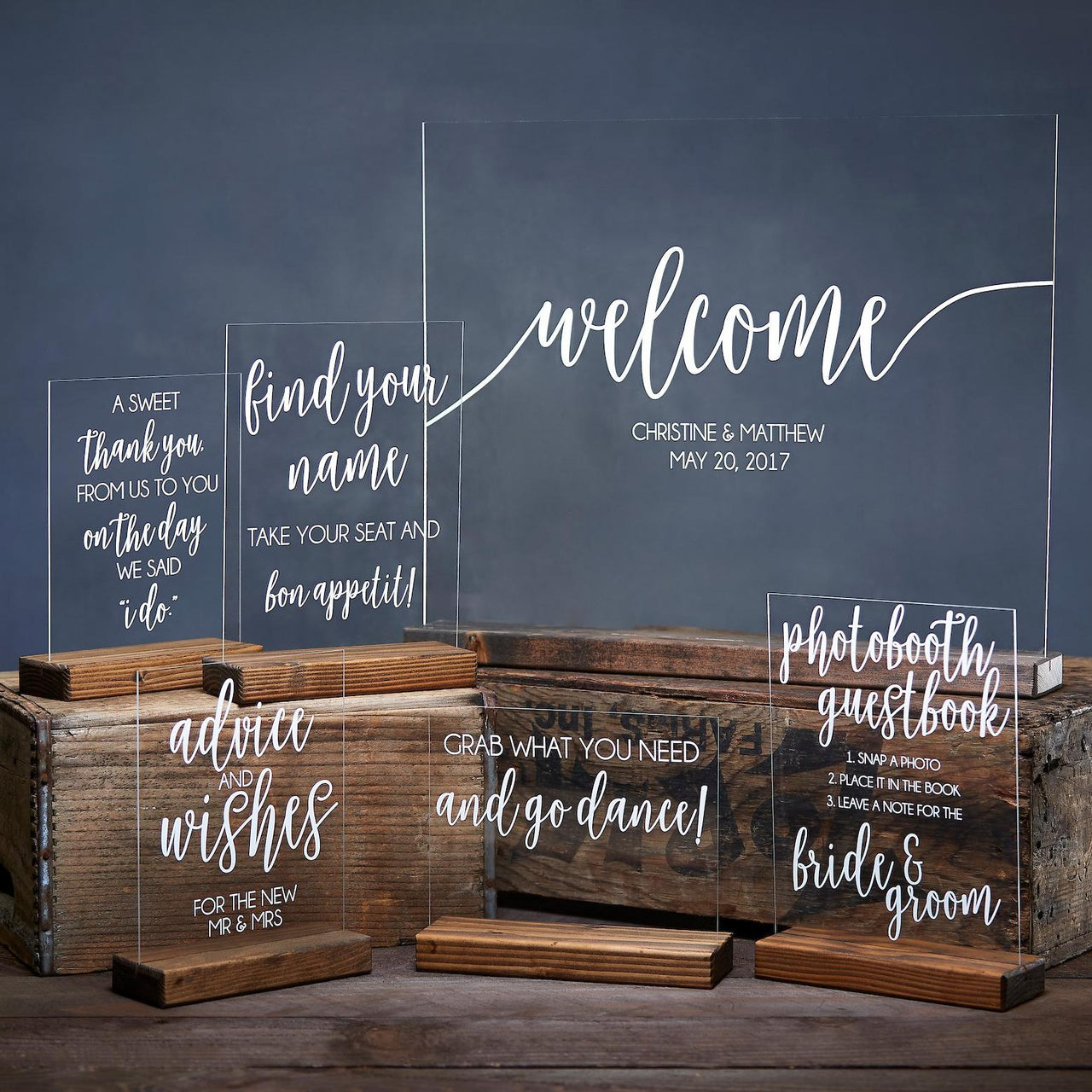 DELUXE Acrylic Wedding Sign Bundle - Rich Design Co