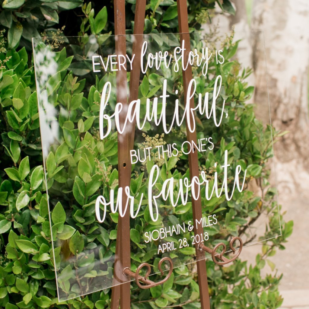 Every Love Story Is Beautiful, But This Is Our Favorite Acrylic Wedding Welcome Sign - Rich Design Co