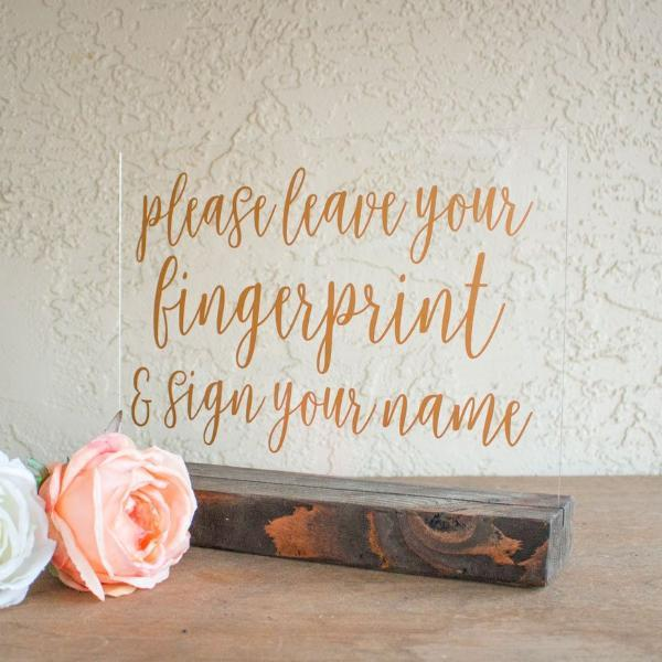 Fingerprint Guest Book Wedding Sign - Rich Design Co