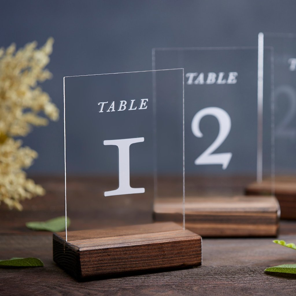 Formal Acrylic Table Numbers - Rich Design Co