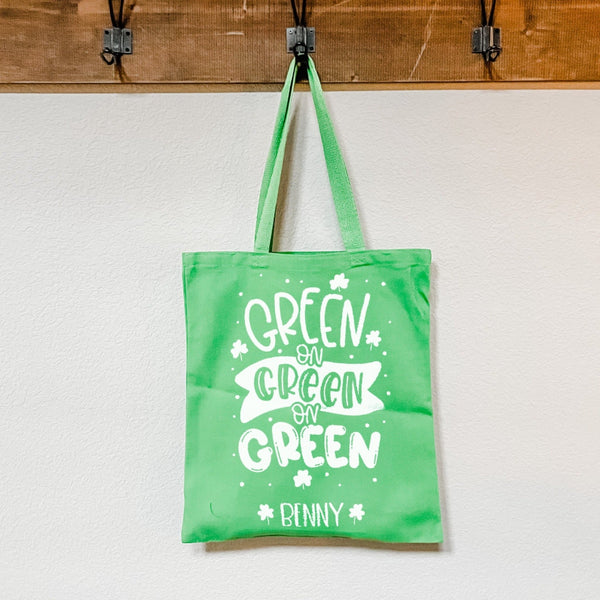 Green on Green Kids St. Patrick's Day Bag - Rich Design Co