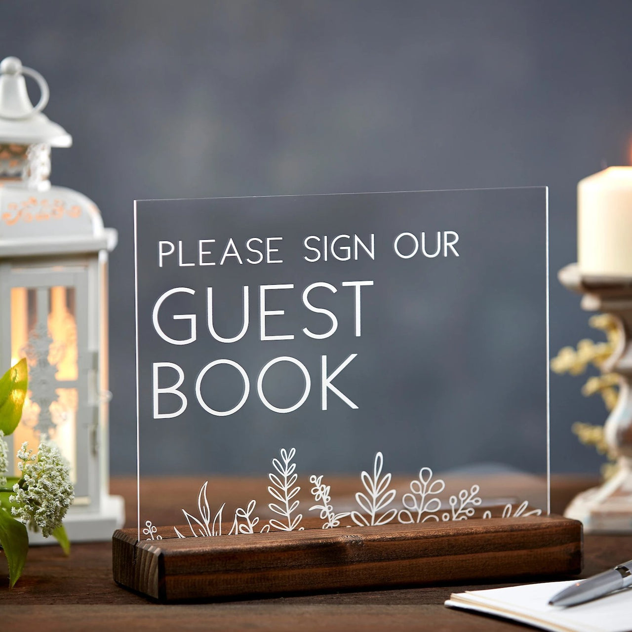 Guest Book Acrylic Sign - Rich Design Co