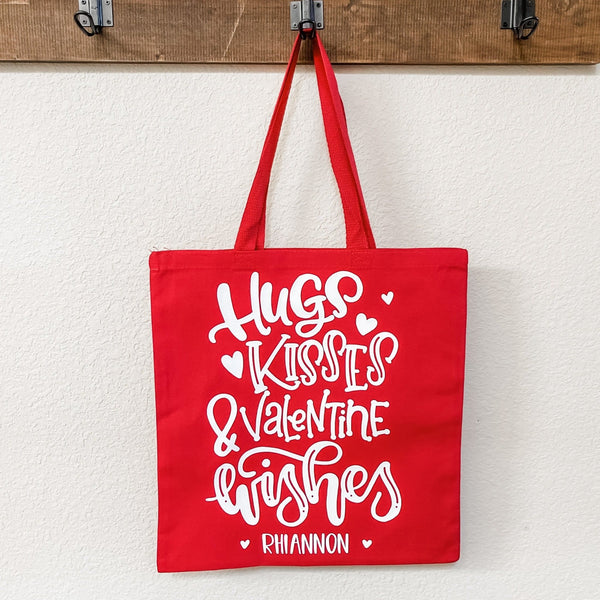 Hugs and Kisses Kids Valentine's Day Goodie or Gift Bag - Rich Design Co