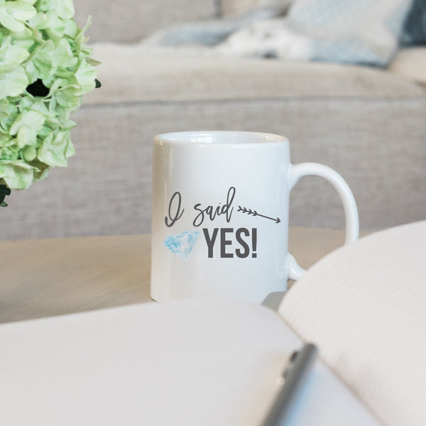 I Said Yes Engagement Ring Mug - Rich Design Co