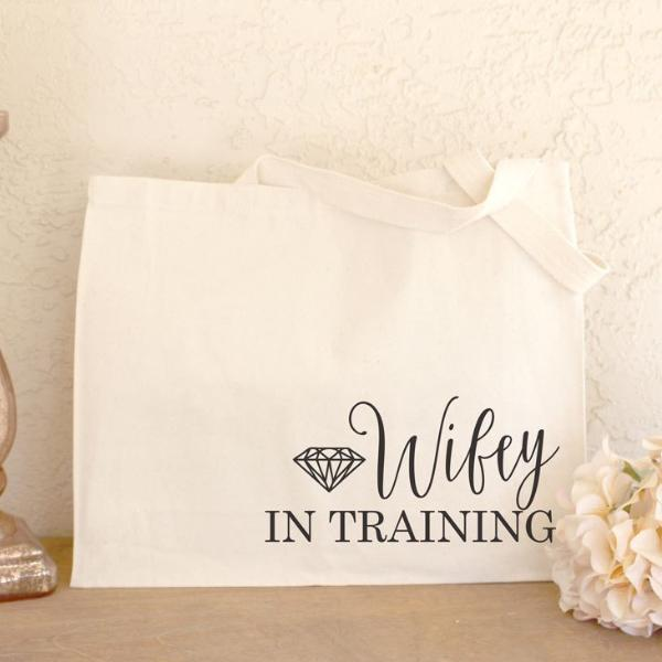 Wifey To Be Canvas Tote Bag | Rich Design Co