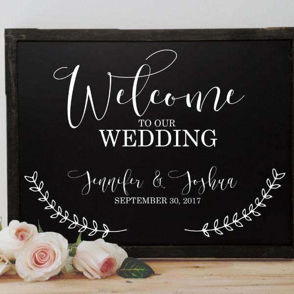 Rustic Wedding Welcome Chalkboard Sign | Rich Design Co