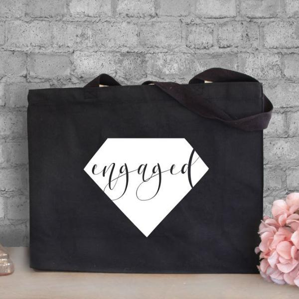 Engaged Canvas Tote Bag | Rich Design Co