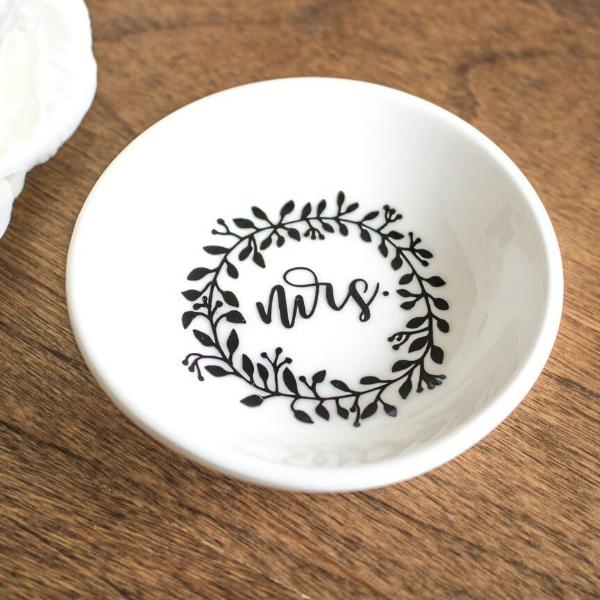 floral mrs wedding ring dish rich design co - Wedding Ring Dish