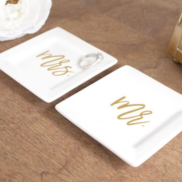 Mr & Mrs Matching Ring Dishes | Rich Design Co
