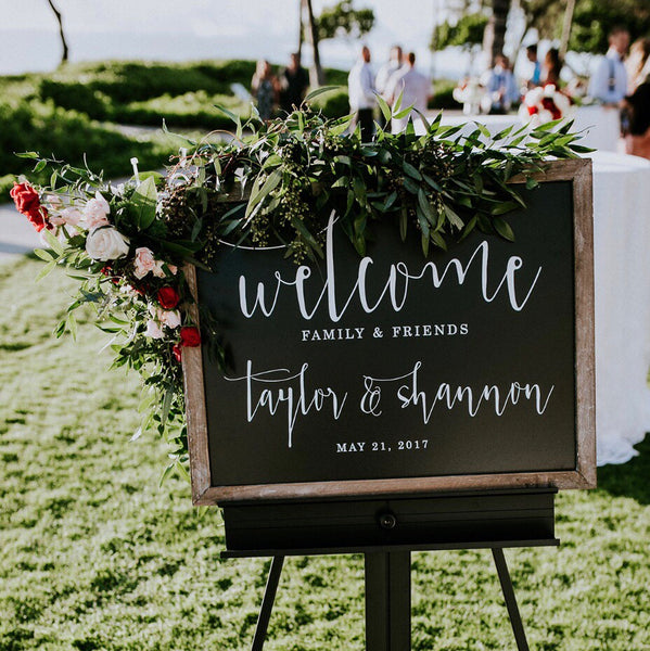 Chalkboard Wedding Welcome Sign with Personalization | Rich Design Co