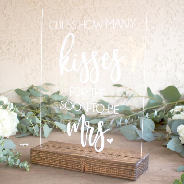 Kisses Bridal Shower Game Sign - Rich Design Co