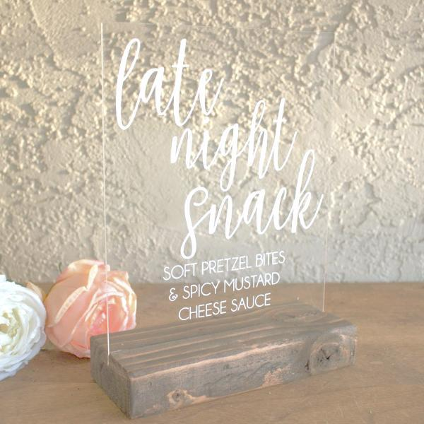 Late Night Snack Acrylic Sign - Rich Design Co