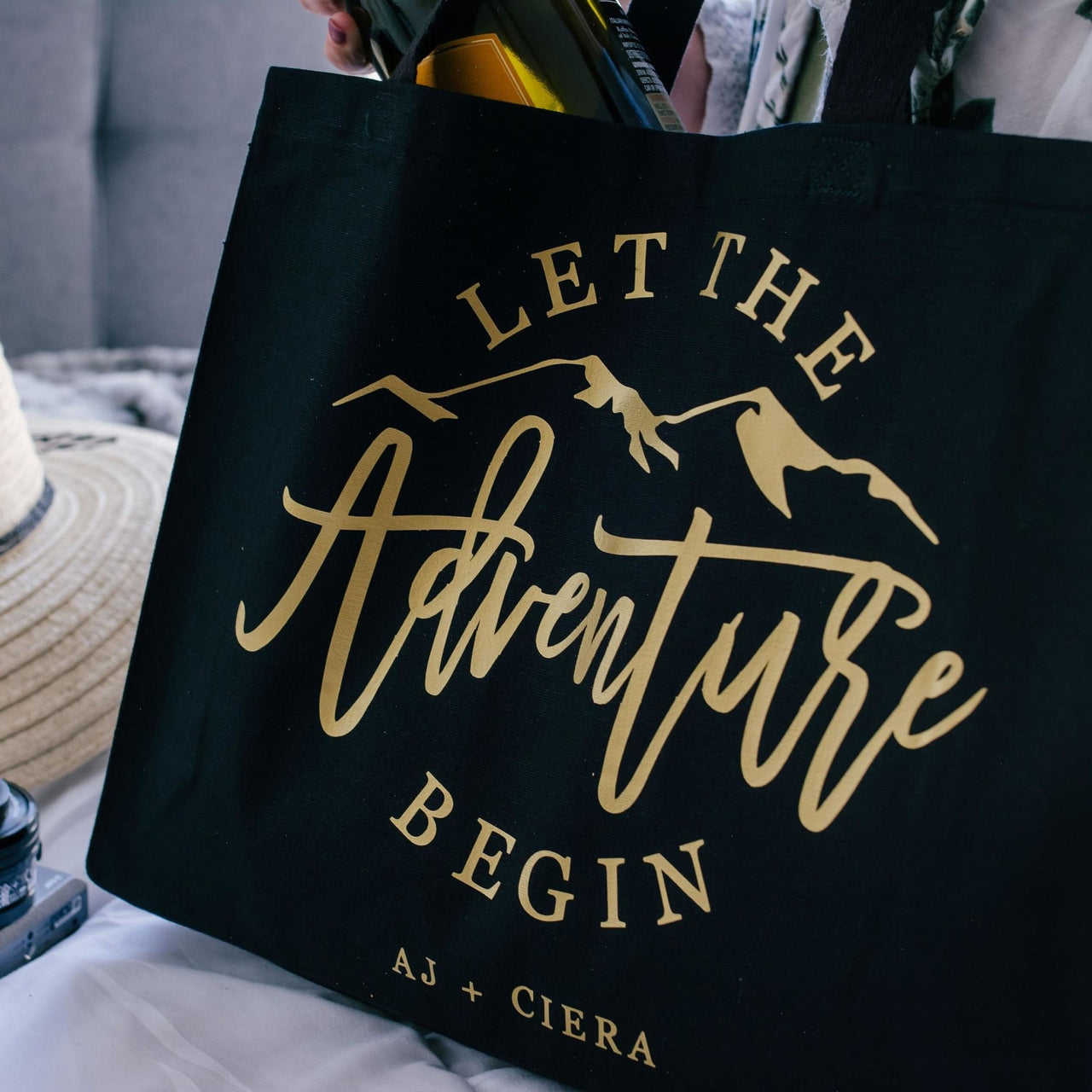 Let The Adventure Begin Canvas Tote Bag - Rich Design Co