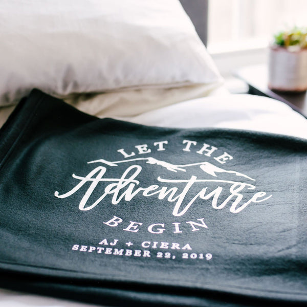 Let The Adventure Begin Personalized Blanket - Rich Design Co