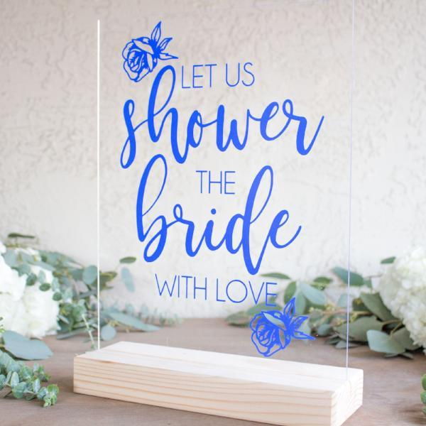 Let Us Shower the Bride With Love Bridal Shower Sign - Rich Design Co