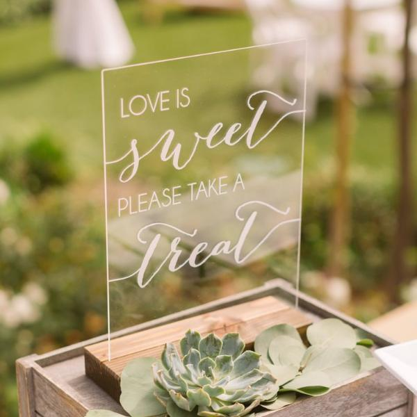 """Love is Sweet, Take a Treat"" Acrylic Wedding Sign - Rich Design Co"
