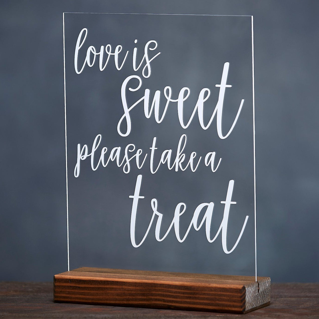 Love is Sweet, Take A Treat Sign Acrylic Wedding Sign - Rich Design Co