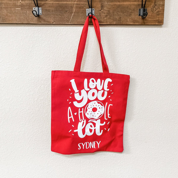 Love You a Hole Lot Donut Kids Valentine's Day Goodie or Gift Bag - Rich Design Co