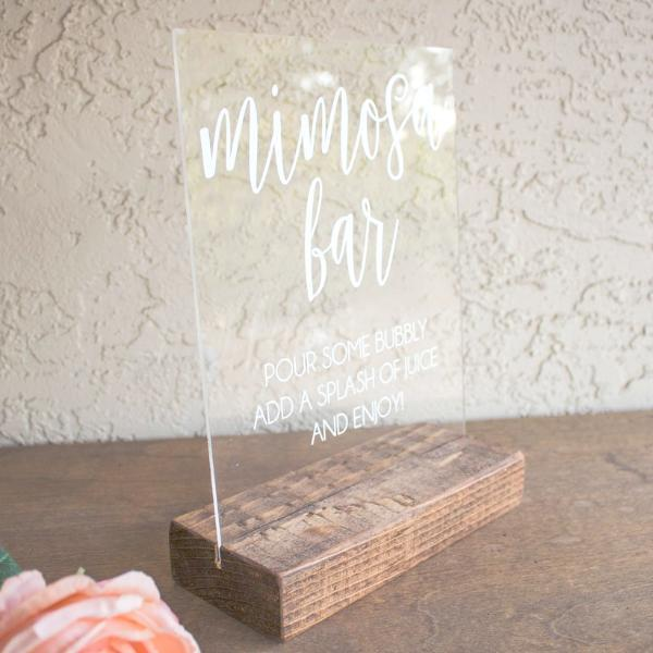 Mimosa Bar Acrylic Sign - Rich Design Co