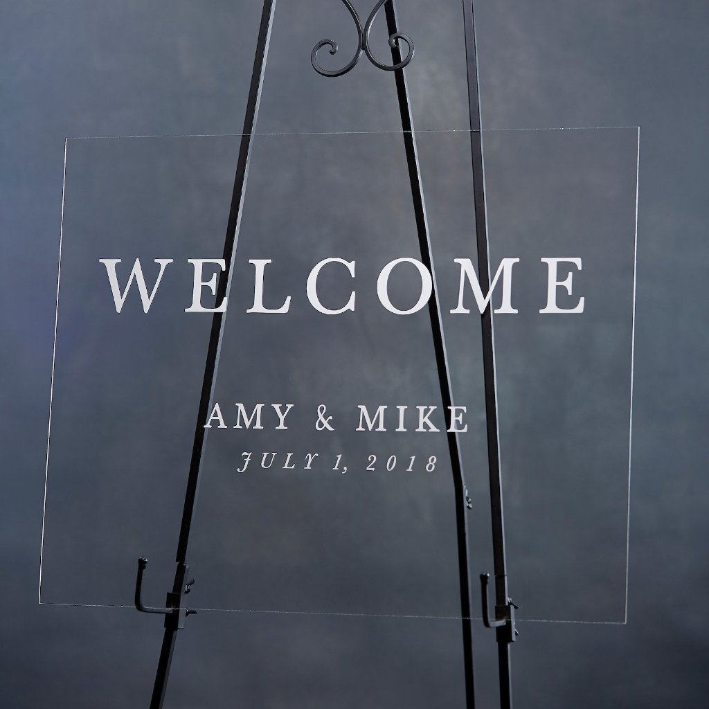 Modern Acrylic Welcome Sign - Rich Design Co