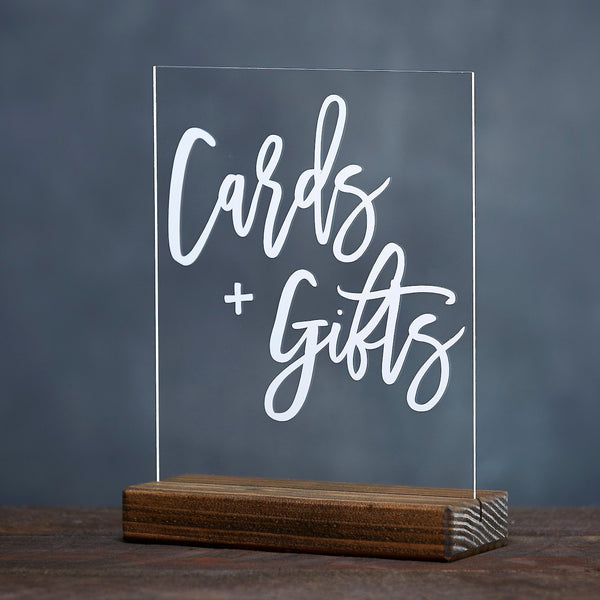 Modern Cards and Gifts Acrylic Sign - Rich Design Co