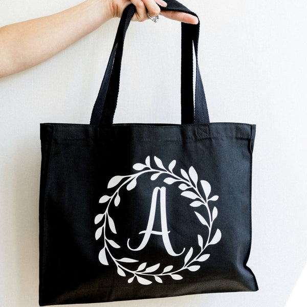 Monogrammed Bridesmaid Canvas Tote Bag - Rich Design Co