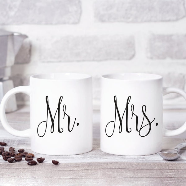 Mr & Mrs Coffee Mug Set - Rich Design Co