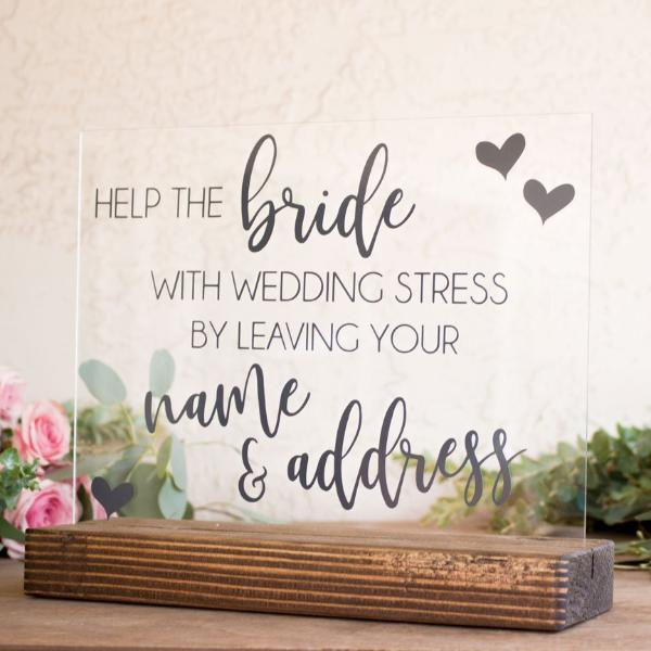 Name & Address Bridal Shower Sign - Rich Design Co