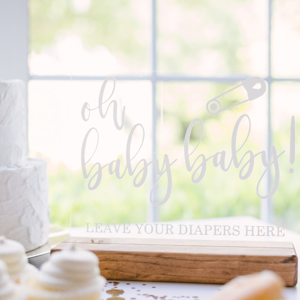 Oh Baby Baby Diaper Raffle Baby Shower Sign - Rich Design Co
